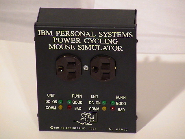 front view of mouse simulator